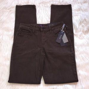 NYDJ Samatha Caribou Brown Slim Stretch Jeans